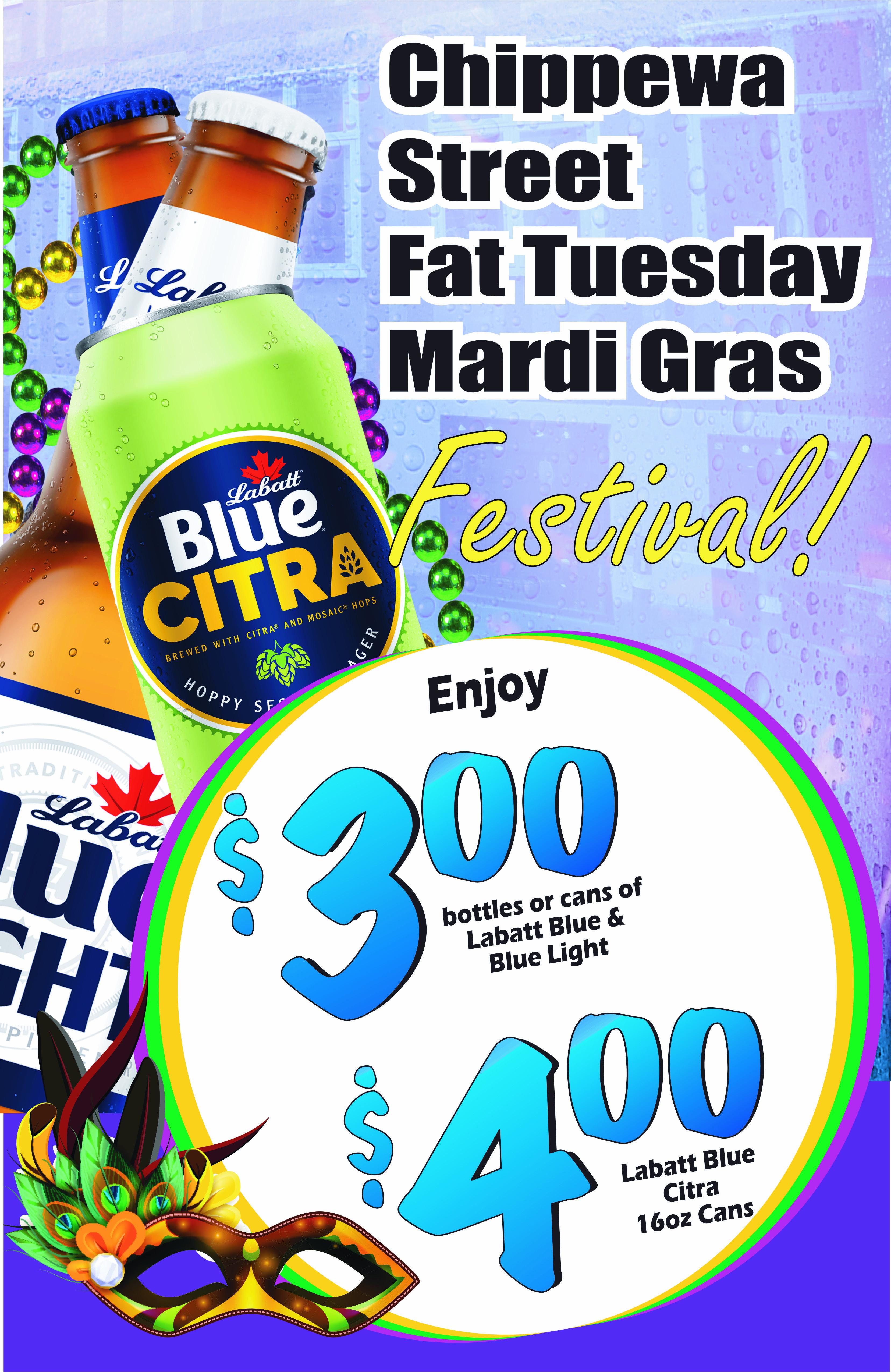 Chippewa St. Fat Tuesday Mardi Gras Fest