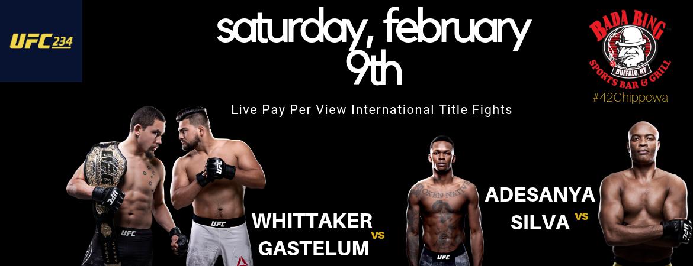 UFC 234 Live PPV
